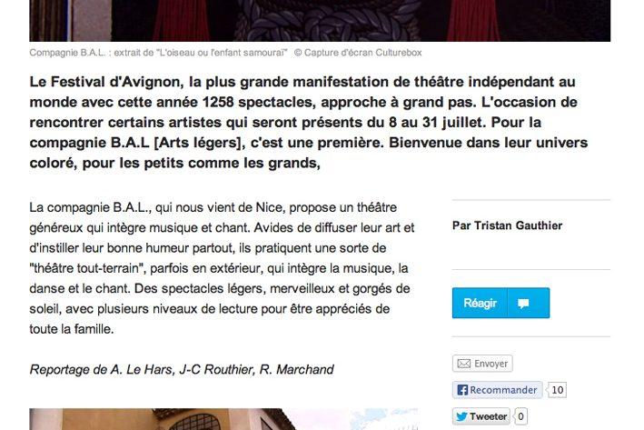 France 3 – La compagnie B.A.L au Festival Off d'Avignon : un théâtre festif et tout terrain