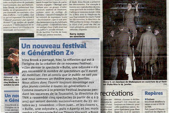 Nice Matin —TNN : un nouveau festival « Génération Z »