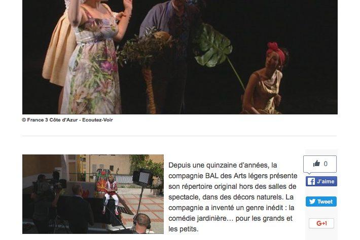 France 3 – La compagnie BAL des Arts légers invente la comédie jardinière