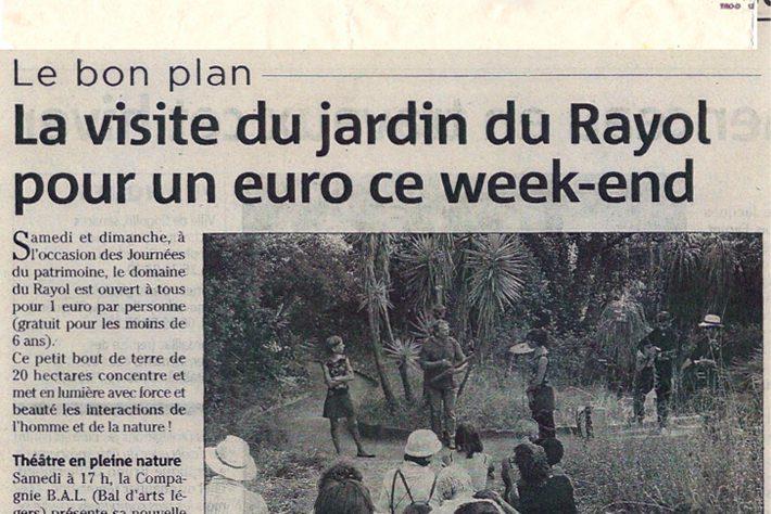 Var matin – Journées du patrimoine au jardin du Rayol