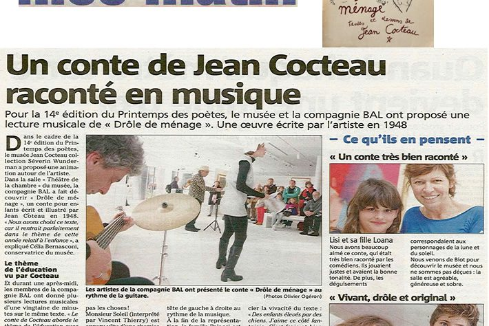 Nice Matin – Un conte de Jean Cocteau raconté en musique