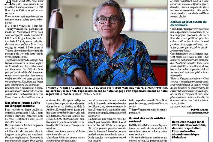 Nice Matin — Cet auteur azuréen a une idée pour sauver les mots