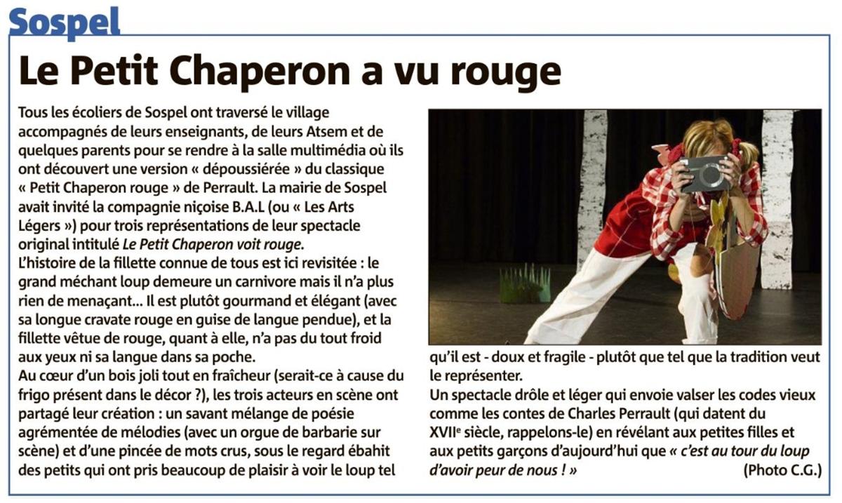 Le Petit Chaperon a vu rouge — Nice Matin