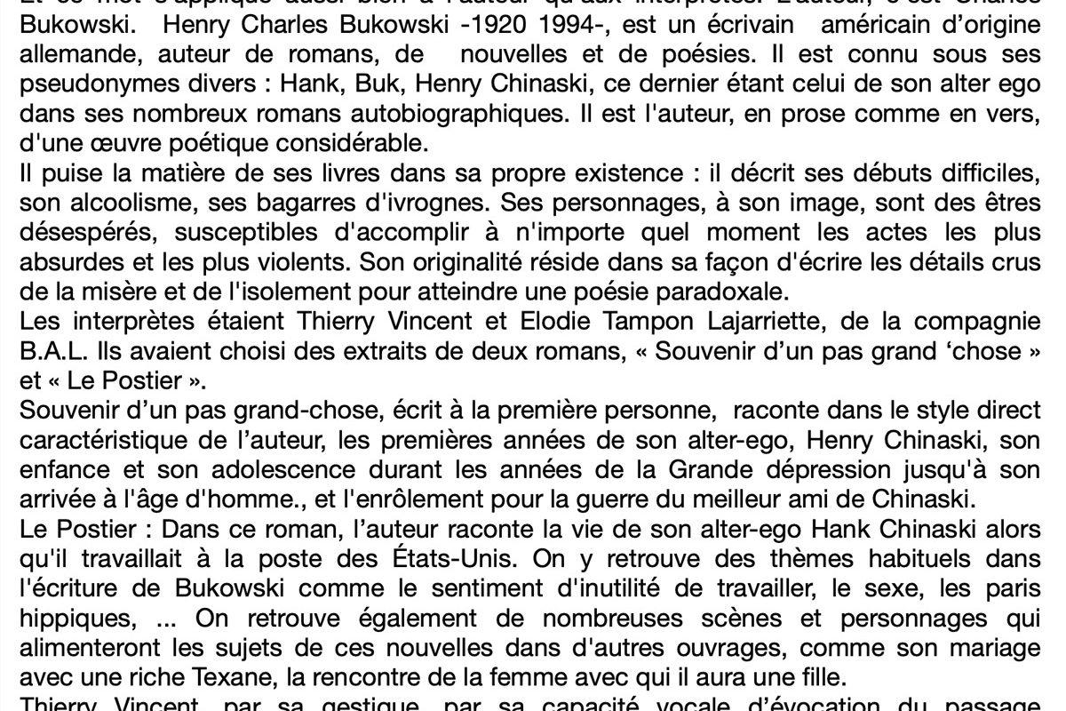 Charles Bukowski — Ciovivaculture